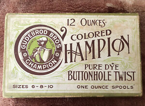 Full  Box Gudebrod Hampion Wooden Spools Silk Thread Pure Dye Button Hole Twist