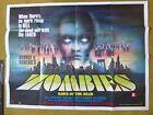 ZOMBIES DAWN OF THE DEAD ORIG UK QUAD FILM POSTER TOM SAVINI GEORGE ROMERO 1979