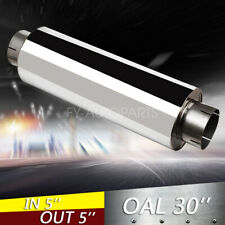 "5"" Inlet/Outlet 30"" inch Overall Performance Diesel Muffler Exhaust / Resonator"