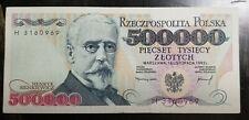 500000 Zlotych Poland 1993 UNC Banknote. HENRYK SIENKIEWICZ !!!