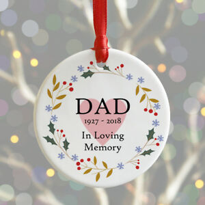 Personalised Christmas Remembrance Bauble IN LOVING MEMORY Xmas Decoration Gift