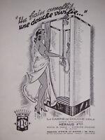 PUBLICITÉ DE PRESSE 1952 CABINE DE DOUCHE IDÉALE HÉRAUD - ADVERTISING