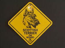Scottish Terrier On Board Dog Breed Yellow Car Swing Sign Gift