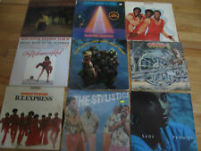 OLD LOT OF 9 33 1/3 VINYL ALBUMS - DIANA ROSS, RICK JAMES AND MORE A8