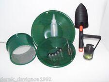 "INTERNATIONAL Green Mini Classifier Screen Gold Pan Panning Kit 10"" & 8"" Green"