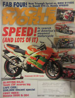 Cycle World Magazine March 1999 Speed! In search of America's meanest Motorcycle