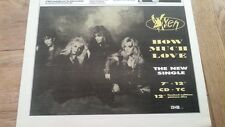 VIXEN How Much Love 1990 UK Press ADVERT 12x8 inches