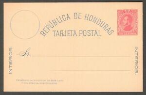 AOP Honduras 1882 2c red postal card unused HG #1