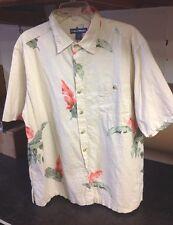 West Marine Limited Edition Mens Cotton Hawaiian Print Boating Shirt XL