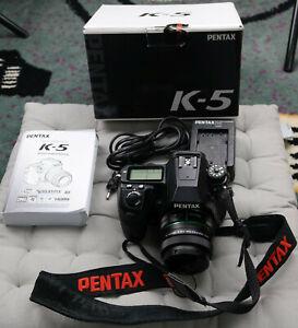 Pentax K K-5 16.3 MP SLR-Digitalkamera - mit DA 35mm f2.4 Objektiv, top Zustand!