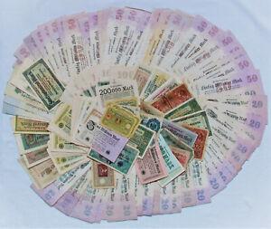Konvolut Lot Banknote Reichsbanknote Mark 144 St.Deutschland Deutsches Reich RAR
