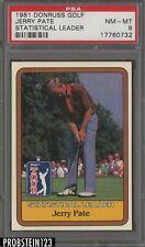 1981 Donruss Golf Statistical Leader Jerry Pate PSA 8 NM-MT