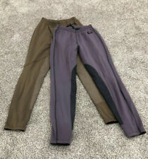 Kerrits Lot Of 2 Youth XL Fleece Lined Knee Patch Breech Riding Pant H5