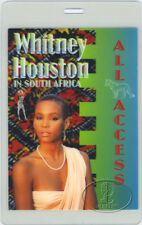 WHITNEY HOUSTON 1994 Africa Laminated Backstage Pass