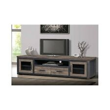 "80"" Wood Rustic TV Entertainment Stand Console Media Storage Center Vintage Look"