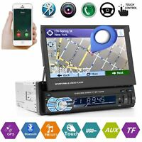 1DIN 7'' HD Autoradios GPS Navi Auto Stereo Radio Bluetooth FM AM MP5 MP3 Player