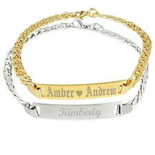 Personalized Nameplate Bracelet 14k GP Men Bracelet for Woman