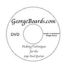 Lap Steel Guitar Instructional DVDs GeorgeBoards 5 pack