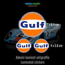 Adesivi logo Gulf pegatinas autocollants stickers retro vintage race