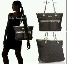 Anne Klein Zip Line Tote Bag  Black/GRAY NWT $ 99.00 Factory packed