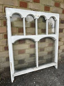 Reclaimed Old Edwardian Arch Sash Wooden Window 890 x 760mm