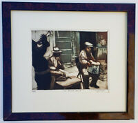 SUSAN DYSINGER Jazz Band Original PENCIL SIGNED Limited Edition COLOR ETCHING