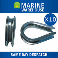NEW 10mm HD Stainless Steel Thimble Rope Application from Blue Bottle Marine