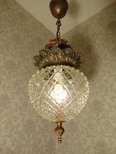 antik alter Deckenleuchter Kronleuchter  Lüster Bronze Glas Frankreich ca. 1930