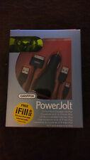 GRIFFIN PowerJolt Auto Charger/Adapter 4 iPod Black