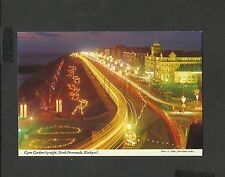 J Hinde Postcard Blackpool Illuminations Gynn Gardens by Night-North Promenade