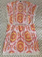 Jcrew Ikat Summer Print Embroidered Dress (Small)