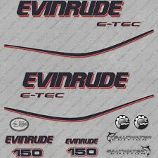 Evinrude 225HO E-TEC WC Outboard 14Pc Decals for White Cowl Saltwater 2010