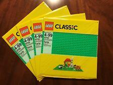 Lego Classic Green Baseplates, Set of 4 Green Baseplates