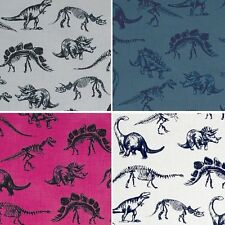 Jurassic Dinosaurs and Fossils Dinosaur Bones 100% Cotton Patchwork Fabric