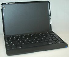 ZaggKeys Apple iPad Mini BLACK Folio Full Body Case Lit-Keyboard zagg bluetooth