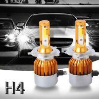 2pcs C6 LED Phare de voiture Kit COB H4 36W 7600LM Ampoules blanches or P4A3 1U