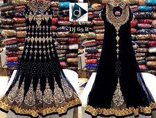 New Indian Pakistani Designer Suit Bollywood Dress Black Anarkali Salwar Kameez