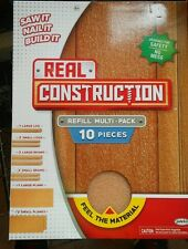 Jakks Pacific NEW -Real Construction Refill Kit Multi-Pack -10 PIECES, Kid Wood