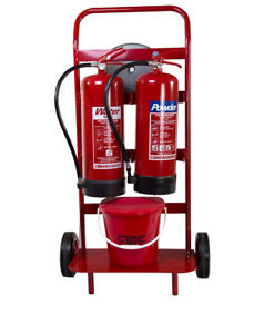 NEW DOUBLE EXTINGUISHER TROLLEY