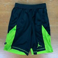 Nike Dri Fit Youth Jumpman Basketball Shorts - Medium, Black & Yellow/Green
