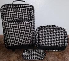 Prodigy 3 Piece Overnight Weekend Travel Luggage Set Makeup & Shoulder Bag