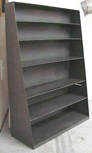 """VINTAGE INDUSTRIAL 25.5"""" X 18"""" X 7"""" TAPERED TO 3"""" DEEP GREY (6) SHELF WALL UNIT"""