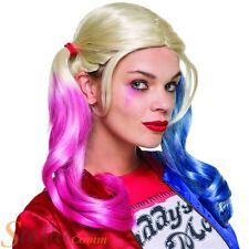 Oficial Suicide Squad Harley Quinn Cerdo COLA Peluca Disfraz Accesorio Traje