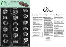 Mardi Gras International Chocolate Candy Mold In Sealed Poly Bag w/Instructions