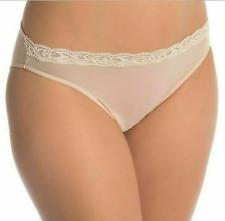 NEW! NATORI 7737023 FEATHER BIKINI PANTIES (Size S) Nude