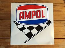 Ampol with chequred flag vinyl decal for petrol bowser Gilbarco CM or Bullseye