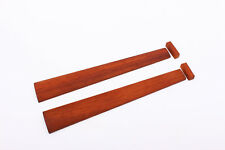 2pcs violin Fingerboard 4/4 undyed Indonesia Redwood full size parts