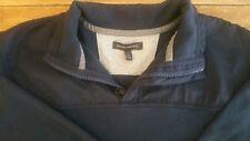 Banana Republic Men's 1/4 zip  collared Long Sleeve Sweater Blue Size XL