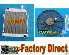 56MM ALUMINUM RADIATOR JAGUAR MARK 2 MK2 MK II DAIMLER 2.5 V8; V8-250 MT +FAN