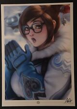 2016 SDCC Blizzard Overwatch Mei Stanley Artgerm Lau Signed Art Print